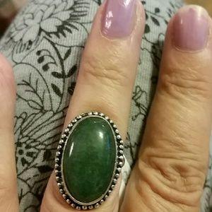 Jewelry - Aventurine *925 sterling silver ring - 7 1/2